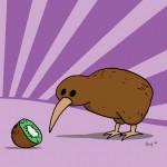 Kiwi-Bird meets Kiwi-Fruit.