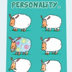 The sheep with personality…